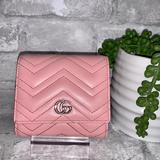 Gucci Bags | Gucci Gg Marmont Leather Wallet | Color: Pink | Size: L4.25 X W1 X H3.25