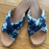 Madewell Shoes | Madewell Sandals Slides Size 9us Skyler Blue | Color: Blue/White | Size: 9