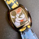 Disney Accessories | Disney Time Works Mickey Mouse Watch | Color: Tan | Size: Os