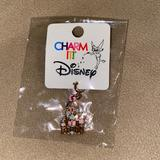 Disney Jewelry | New Charm It Disney Castle Charm | Color: Gold/Pink | Size: Os