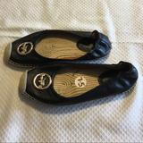 Coach Shoes | Coach Leather Espadrilles! | Color: Black | Size: 7.5