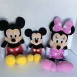Disney Toys | Mickey Minnie And Baby Mickey Plush Family Disney | Color: Black/Red | Size: Os