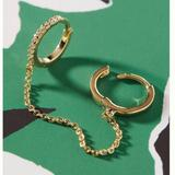 Anthropologie Jewelry | Anthro Louisa Huggie Hoop Chain Ear Cuff | Color: Gold | Size: Os