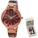 Quartz Crystal Watch - Metallic - Anne Klein Watches