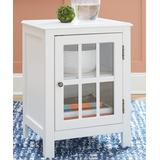 Signature Design by Ashley Furniture Cabinets White - White Opelton Accent Cabinet