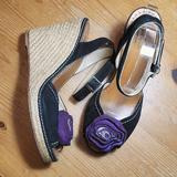 Kate Spade Shoes   Kate Spade Suede Espadrille Wedges   Color: Black/Purple   Size: 10