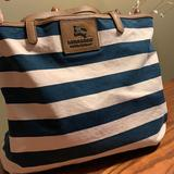 Burberry Bags | Burberry Blue Label Tote | Color: Blue/White | Size: 16wx11.5h