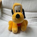 Disney Toys | Disney Pluto Stuffed Animal | Color: Black/Gold | Size: Osg