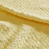 Liquid Cotton Blanket, Twin, Yellow
