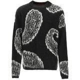 Paisley Sweater S Wool - Black - 424 Knitwear