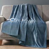 Beatyrest Heated Plush Throw Blanket 60 x 70, 60 x 70, Sapphire