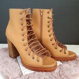 Free People Shoes | Free People X Jeffrey Campbell Cutout Boots Fall | Color: Brown/Tan | Size: Various