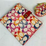 Coach Accessories   Coach Scribble Print Ipad Tablet Cover Set   Color: Pink/White   Size: Os