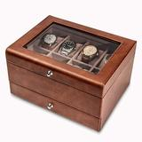 ABS Watch Box Organizer For Men - Leather Watch Case - Luxury Watch Box - For Large Mens Wrist Watches - Mens Jewelry Box Organizer - Watch Case
