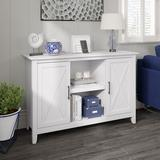 Bush Furniture Key West 2 - Door Accent Cabinet Wood in White, Size 30.0 H x 46.0 W x 16.0 D in | Wayfair KWS146WT-03