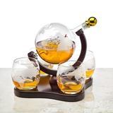 DELCY Whiskey Decanter Globe Set w/ Globe Whisky Glasses - For Liquor, Scotch, Bourbon, Vodka, Size 1.0 H x 1.0 W in   Wayfair DELCY1be4b62