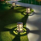 Lattice Routh Solar Lights Outdoor Decorative (4Pcs), Auto-Work Stone Imitation Solar Garden Lights, Solar Yard Lights, Solar Pathway Lights Wayfair
