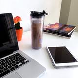 JIAQ Crystal Click & Seal Shake Tumbler Cup For Hot Or Cold Drinks, 22 Oz in Black, Size 9.5 H x 3.5 W in   Wayfair JIAQ1ae3925