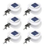 LAKEKYD Outdoor Solar Gutter Lights【Upgraded Version】Solar Fence Post Lights Wall Mount Decorative Deck Lighting Auto On/Off Solar Landscape Lights For Eaves