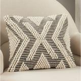 Saro Havok Square Cotton Pillow Cover Cotton in Black/White, Size 18.0 H x 18.0 W x 0.5 D in | Wayfair 5132.BW18SC