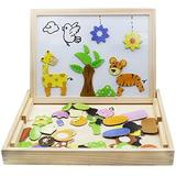 Polar Wooden Toys Magnetic Puzzles Wooden Games 109 Pieces Double Side Education Learning Toys For Children | Wayfair POLARb1c91c2