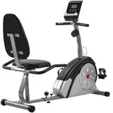 PovKeever Recumbent Exercise Bike w/ Magnetic Stationary & Pulse Monitor, Adjustable Seat in Gray   Wayfair ORMS191365AAN#LSJD