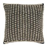Saro Square Cotton Pillow Cover & Insert Down/Feather in Black/White, Size 20.0 H x 20.0 W in   Wayfair 540.BW20SD