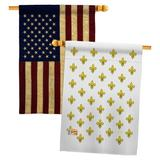 Breeze Decor Royal French House Flags Pack Fleur De Lys Country Living Yard Banner 28 X 40 Inches Double-Sided Decorative Home Decor | Wayfair