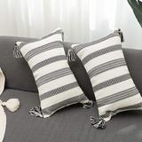 Foundry Select Set Of 2 Cotton Woven Lumbar Throw Pillow Covers, Size 8.0 H x 10.0 W x 3.0 D in | Wayfair 9E67165B92D04DC1B0B2C95E9E1AC074