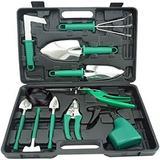 WFX Utility™ Garden Tool Set, 12-Piece Stainless Steel Hand Tool Set w/ Shovel, Weeder, Trimmer, Scissor Sprayer & Carrying Case, Men'S Gardening