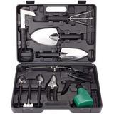 WFX Utility™ Stainless Steel Hand Tool Kit w/ Shovel Rake Weeder Pruner Shear Sprayer & Carrying Case, Size 2.83 H x 10.0 W x 14.0 D in | Wayfair