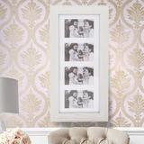 Latitude Run® Simple PVC Wood Grain Coating Photo Storage Damp-Proof Jewelry Mirror Cabinet in White, Size 23.62 H x 11.81 W x 3.54 D in   Wayfair
