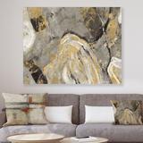 Mercer41 Painted Gold Stone - Cabin & Lodge Canvas Art Metal in Brown, Size 24.0 H x 32.0 W x 1.0 D in | Wayfair 92F01E70F74E4FDEA32167E26A3E9609