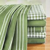 Gracie Oaks Decorative 6-Piece Woven Kitchen Hand Towel Set Cotton in Green   Wayfair BE68B128319D43B9959464543C880D75