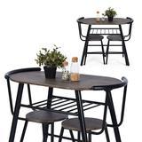 17 Stories 3 - Piece Breakfast Nook Dining Set Wood/Metal in Black/Brown, Size 29.5 H in | Wayfair 17F7B6B808124FAF84F0C30EC13B038A