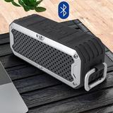 XIAOSHU Rugged Waterproof Water, Shock, FM Radio & Bluetooth Speaker in Gray, Size 4.0 H x 9.6 W x 4.0 D in   Wayfair I01LSZ200706321xli130816