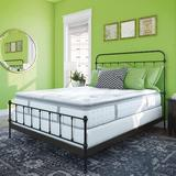 Arsuite Memory Foam & Innerspring Hybrid 12-Inch Pillow Top Mattress   Bed-In-A-Box in Green, Size 80.0 H x 72.0 W x 12.0 D in   Wayfair