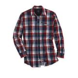 Men's Wrangler All-Terrain Gear Hike-To-Fish Long-Sleeve Shirt, Dark Red Plaid XL