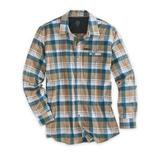 Men's Wrangler All-Terrain Gear Hike-To-Fish Long-Sleeve Shirt, Elmwood Plaid 2XL