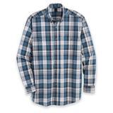 Men's Wrangler Blue Ridge Long-Sleeve Easy-Care Shirt, Blue/Gray XL