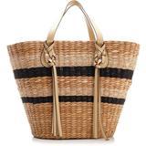 Stripe-woven Tassel Detailed Tote Bag - Natural - Ulla Johnson Totes