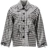 X Alexa Chung Checked Waterproof Jacket - Black - Barbour Jackets