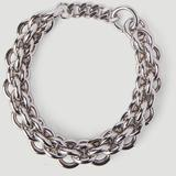 Dual Chunky Chain Necklace - Metallic - 1017 ALYX 9SM Necklaces