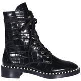 Sondra Lace-up Boots - Black - Stuart Weitzman Boots