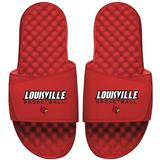 """Men's ISlide Red Louisville Cardinals Basketball Wordmark Slide Sandals"""