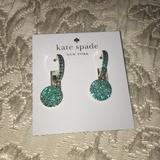 Kate Spade Jewelry   Kate Spade Emerald Green Dangle Earrings   Color: Green   Size: Os
