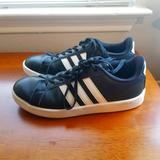 Adidas Shoes | Adidas Black Leather Women'S Sneakers | Color: Black/White | Size: 9.5