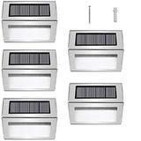 LAKEKYD Solar Deck Lights,Solar Step Lights in Gray/White, Size 3.14 H x 3.96 W x 1.18 D in   Wayfair LAKEKYD3647ad3