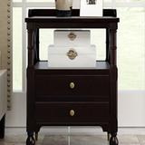 Darby Home Co Modern Cherry 2 Drawer Nightstand in Black, Size 27.4 H x 23.6 W x 16.9 D in | Wayfair 34EDF2321B6B448CA267535CD77170F1