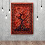 Bungalow Rose Tapestries Indian Cotton Poster Small Picnic Sheet Wall Decor Blanket Wall Art Hippie Bedroom Decor (Small, 30X40 Inch) Cotton Wayfair